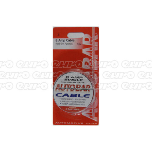 Autobar 562 Multi Purpose Electrical Cable 8 Amp 6m Red Electrical Wire