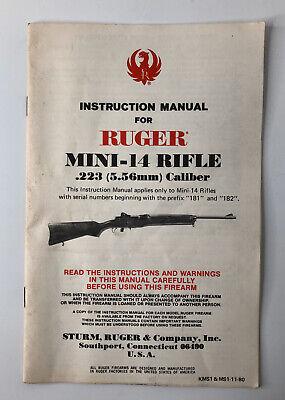 Ruger Mini 14 Rifle 223 Caliber Instruction Manual Ebay