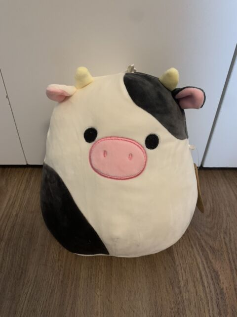 Connor Cow 8 Inch Squishmallow Squishmallows NWT Pet Version Squeaker
