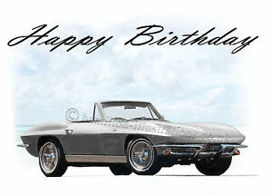 Chevrolet Corvette C2 Stingray Classic Car Birthday Card Ebay