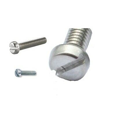"""400 pcs Oval Head Slotted Machine Screw 18-8 Stainless Steel, 4-40 x 1//4/"""" L"""