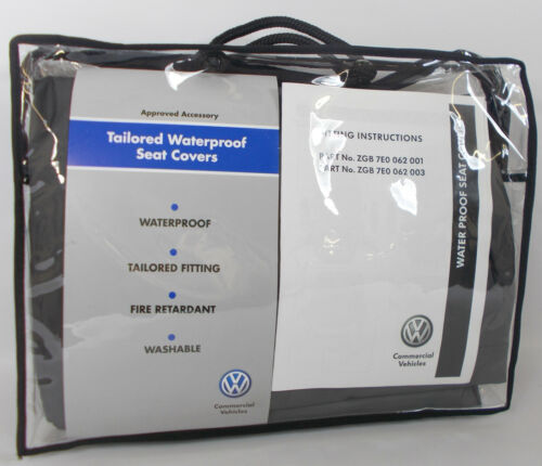 SINGLE PASSENGER SEAT WATERPROOF COVERS VW TRANSPORTER T5 FRONT GREY DRIVERS
