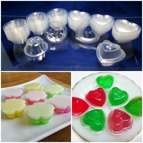 100-1000 0.3oz Disposable Clear Plastic Jelly Mold Cups Jelly Mould Party No Lid