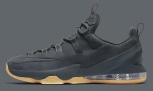 New-Nike-Lebron-James-13-XIII-Low-Premium-PRM-Anthracite-Gum-Ah8289-001-Black
