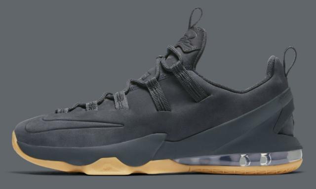 half off 93a13 7bb04 New Nike Lebron James 13 XIII Low Premium PRM Anthracite Gum Ah8289-001  Black