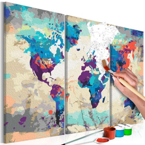 Malen nach Zahlen Erwachsene Wandbild Malset mit Pinsel Malvorlagen n-A-0231-d-e