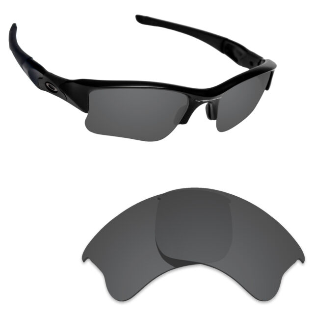 bf949b0d6b Hawkry Polarized Replacement Lenses for-Oakley Flak Jacket XLJ Stealth Black