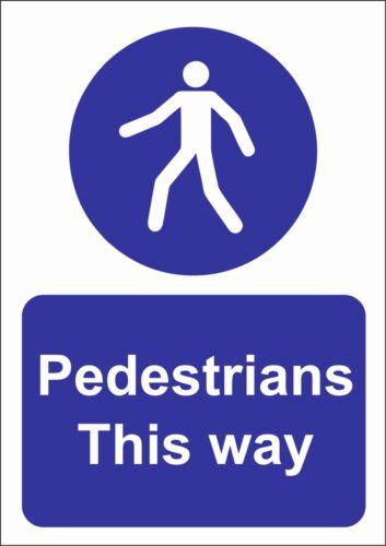 Esta forma del sitio Seguridad peatones signo-A5//A4//A3 adhesivo o activo signo de seguridad