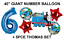 UK SELLER 5th BIRTHDAY THOMAS  FOIL NUMBER /& BALLOON BOUQUET PARTY DECORATION