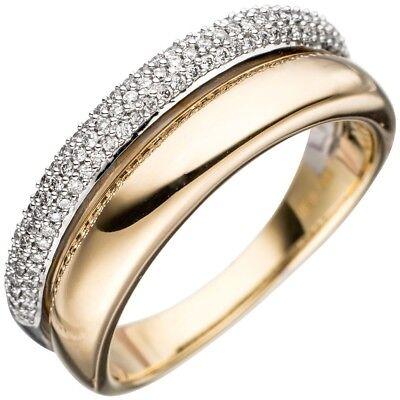 3826d867aecf Anillo Anillo de Dama con 101 Diamantes Brillantes 585 Oro Amarillo   Oro  Blanco