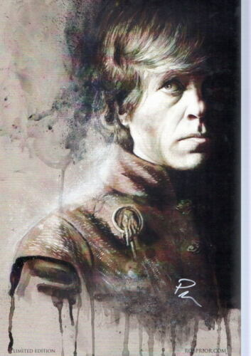 TYRION LANNISTER Peter Dinklage Print HAND SIGNED by ROB PRIOR w COA