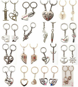 New Couples Keyring 2Pcs Cupid Arrow Heart I LOVE YOU Keychain ... 7aa0ea9b917a