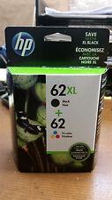 HP New Genuine OEM 62XL black / tri-color ink cartridges Envy EXP 2018 FAST ship