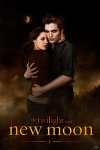 Image Is Loading Movie Poster Twilight New Moon Edward And Bella