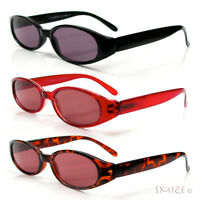 Classic Sun Readers Full Lens Spring Hinges Oval Reading Sunglasses 100-400