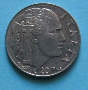 20-Centesimi-Impero-Vittorio-Emanuele-III-1942-XX-Roma-RIGATO-C-SPL