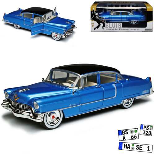 Cadillac Fleetwood Serie 60 Elvis Presley Limousine Blau mit silber Felgen 1955