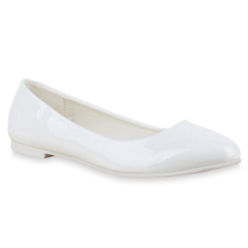 893135 Klassische Damen Ballerinas Lack Slipper Flats Schuhe Mode