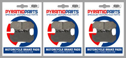 3 Pairs Honda CBX 750 1984 Front /& Rear Brake Pads Full Set