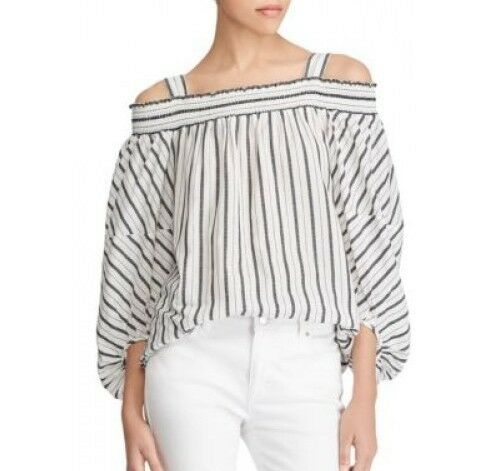Lauren Ralph Lauren damen Striped Off-the-Shoulder Top Mascarpone Cream XS