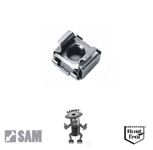 cage nuts 2,8-3,8mm 10 Stück Käfigmuttern Edelstahl A2 M6 für Loch 9,5