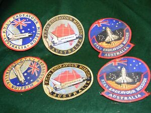 Lot of  6 Australia Space Shuttle  Flight Suit Patches(3 diff.,2 of each).
