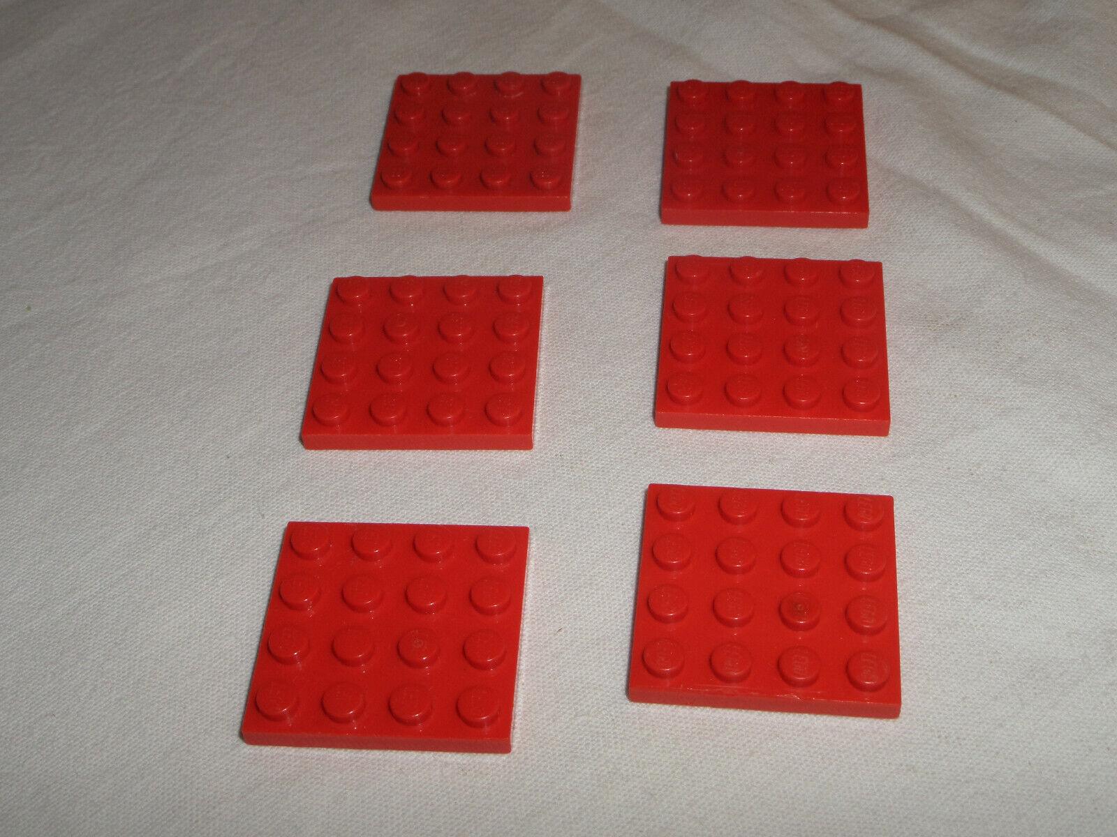 4243819 3031 5 Stück LEGO Stein Platte 4X4 schwarz NEU