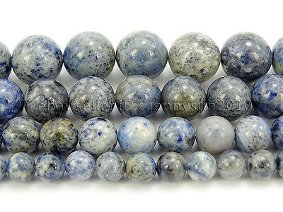 Natural Flower Dumortierite Gemstone Round Spacer Beads 16'' 6mm 8mm 10mm 12mm