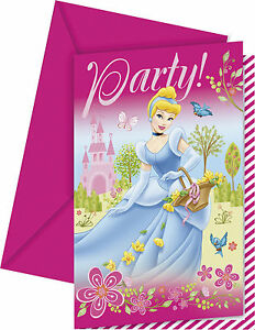 Image Is Loading DISNEY PRINCESS CASTLE Birthday Party Invitations Pink Supplies