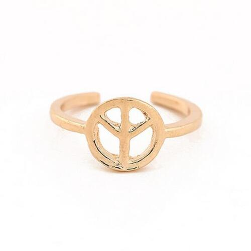Women/'s Fashion Toe Ring Simple Peace Sign Adjustable Foot Jewelry Beach TDCA