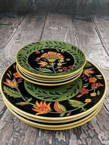 222-Fifth-Arabian-Flowers-dinner-and-salad-plates-4-of-Each-Discontinued-Floral