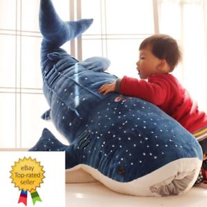 New Style Blue Shark Plush Toys Big Fish Cloth doll Whale Stuffed Animals 100 cm