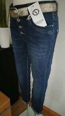 Streifen Karostar Chino BIG SIZE  Boyfriend Italy Style Jeans Hose