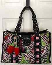 Vintage Betseyville Betsey Johnson Strawberry Fields Zebra Animal Travel Bag