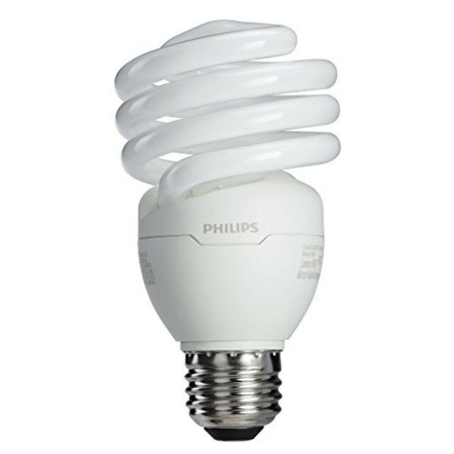 Philips 433557 23W 100-watt T2 Twister 6500K CFL Light Bulb 4-Pack