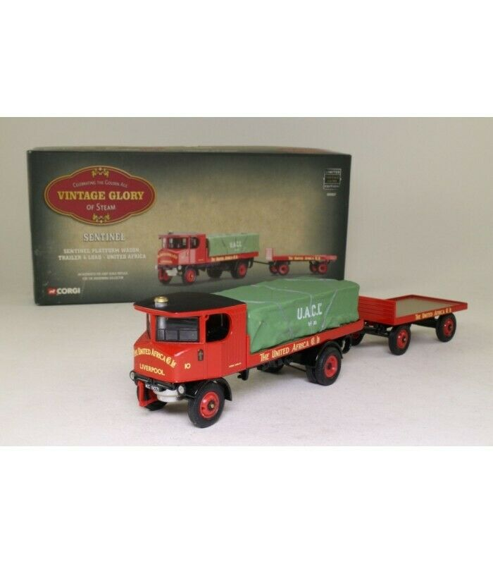 Corgi Sentinel Platform Wagon Trailer and Load United Africa 80007