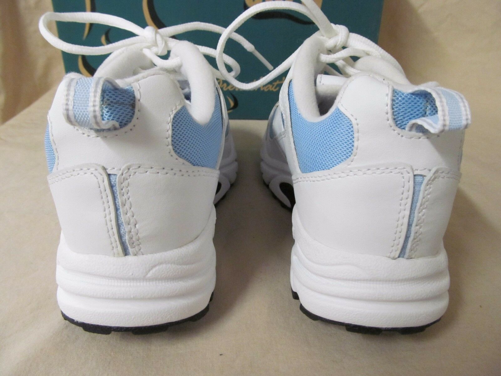 NWD Drew 7 M Flash WEISS & Blau Leder Lace Up Athletic Schuhes Sneakers B