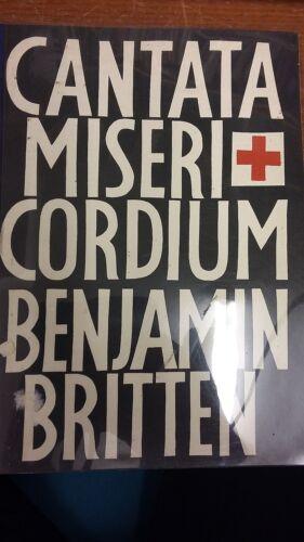 Music Score Cantata Miseri Cordium Britten