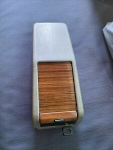 Mercedes W124 Gray Center Console Storage Box Zebrano Wood Roll Top OEM