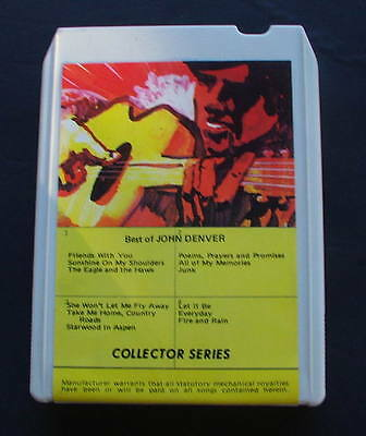 "John Denver ""best Of John Denver"" Collector's Series 8-track Tape To Be Renowned Both At Home And Abroad For Exquisite Workmanship Music Skillful Knitting And Elegant Design"