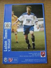 05/01/1999 Luton Town v Walsall [Auto Windscreen Shield] (No apparent faults).
