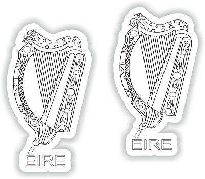 Mobile IRELAND Irish EIRE Gaelic Harp Shield 40mm Decals x6 1,6 Cell Phone Vinyl Mini Stickers