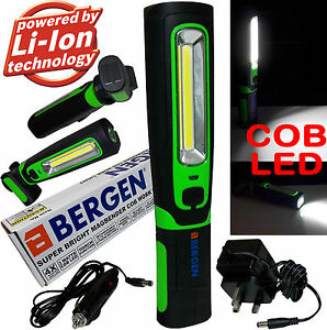 BERGEN-COB-LED-Work-Light-Torch-Li-Ion-Rechargeable-Cordless-Inspection-Lamp-Mag