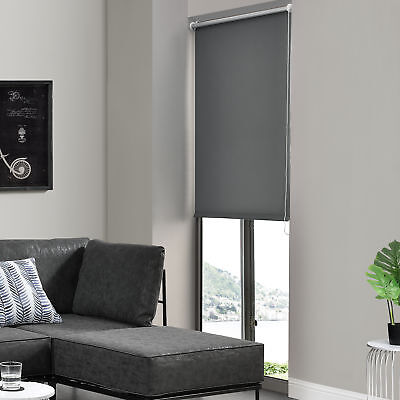 Sidewinder Roller Blind 50x175cm Grey No Drilling Blackout