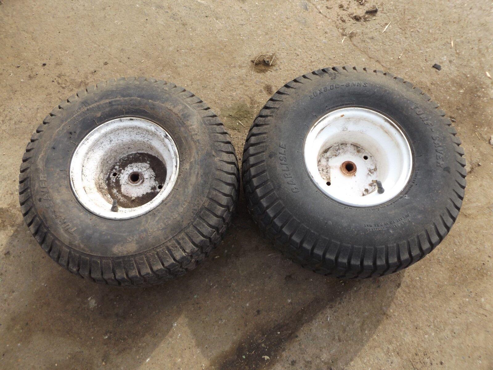 Craftsman LT2000 Rear Rims and Tires 20x8.00-8