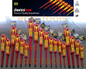 CK DEXTRO Insulated VDE Screwdrivers Pozi Phillips Slotted Modulo Various Size