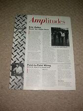 MESA BOOGIE amplitudes VOL 1 no 2 News Letter Amp Guitarra Coleccionista Personalizado Studio