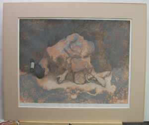 ed singer rare 1978 etching of native american woman listed navajo