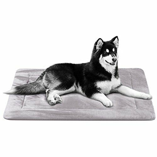 Dog Bed Mat Large Soft Crate Pad Grey