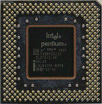 Intel  Pentium 233 MMX   socket 7 CPU SL27S FV80503233 2.8V